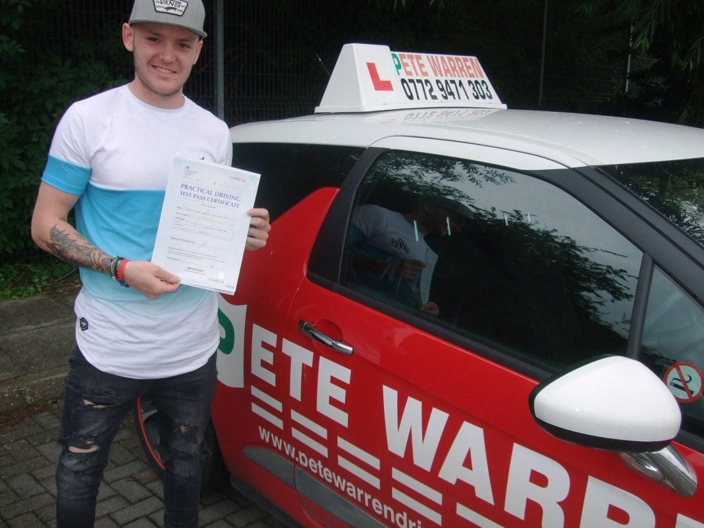 Testimonials - Pete Warren Driver Training